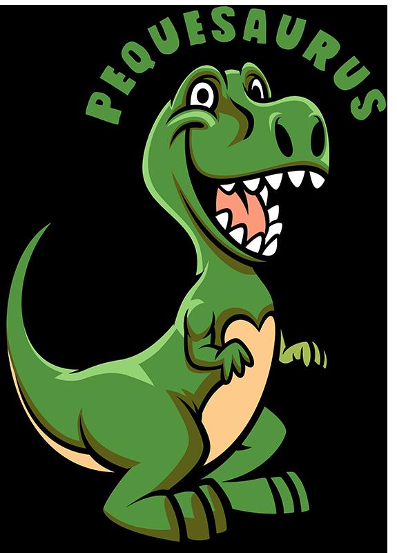 TenVinilo. Body bebé Dinosaurios Pequesaurus. Body con un divertido dinosaurio y el texto que lo acompaña con la palabra pequesaurus, una ilustración infantil bonita para los niños