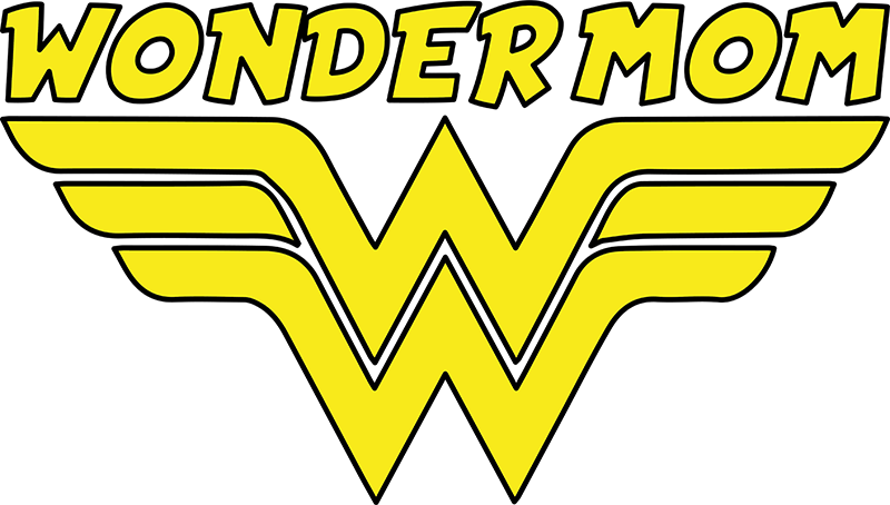 TenStickers. mom wonderwoman Mothers day t shirt. Mothers day shirt which shows the letters w with the text wonder woman. This t-shirt is designed for all the wonderfull mother's over here.