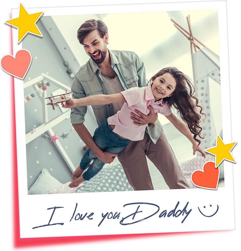 TenStickers. I love you daddy  Father's day t shirt. Personalized t-shirt for fathers day that you can personalize with your photo in a special way for special dates.  It's easy to iron and wash.