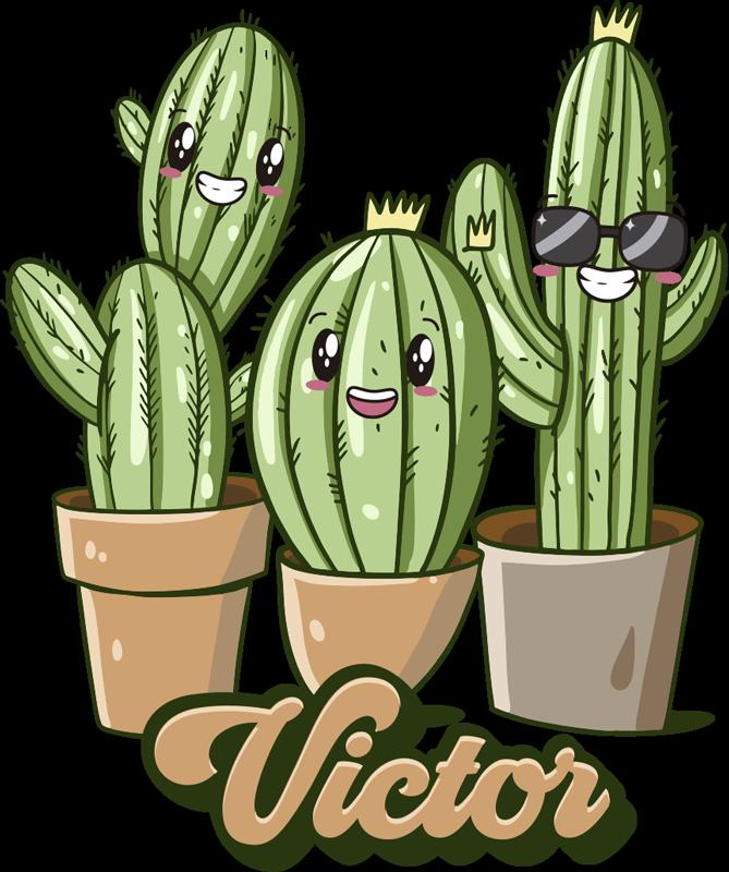 TenStickers. Kaktus Familie Kinder T-shirt mit Namen. Hier bieten wir ein schönes und lustiges Kaktus-Familie Kinder T-shirt an, das Ihre Kinder sicherlich zum Lachen bringt. Erweitern Sie den Kleiderschrank Ihrer Kinder.