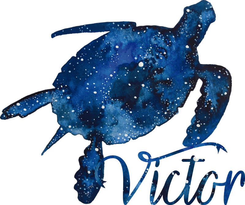 TenStickers. Turtle t-shirt with galaxy pattern and name. Turtle  galaxy t-shirt with personalized name. his is a great design to be part of your closet with fun and cool t-shirts.
