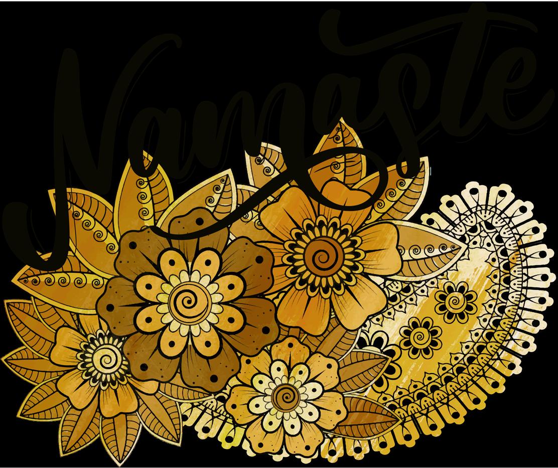 TenVinilo. Camiseta namaste estilo indio flores paisley. Saluda a todos en un estilo indio namaste en nuestro diseño de camiseta para mujeres de moda. Alta calidad ¡Envío a domicilio!