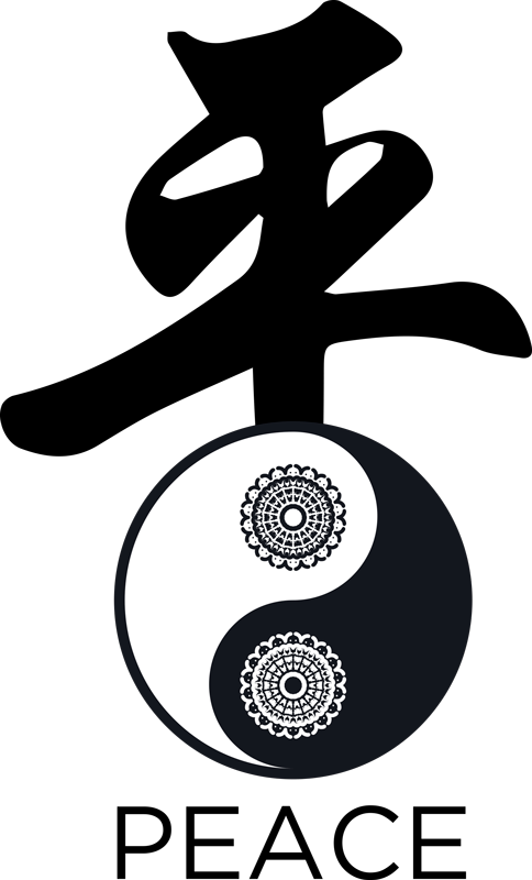 TenStickers. Ying Yang Paisley t-shirt. Buy out trendy t-shirt with fantastic ying yang design to enjoy a simple day out with friend and family. It is made with quality material.