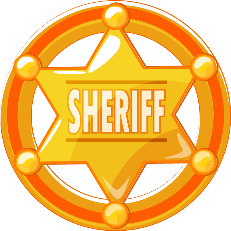TenStickers. Cowboy star with name tshirt. Customized name t- shirt design of a sheriff badge. You sure want to flag this officer's badge in your name to show off to your friends.
