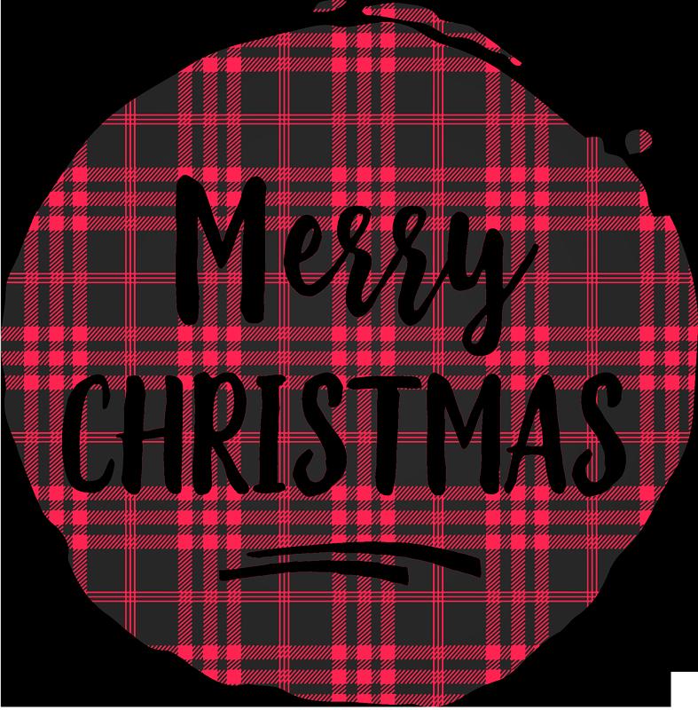 TENSTICKERS. クリスマスタータンパターンクリスマスtシャツ. タータンパターンクリスマスシャツデザイン 'メリークリスマス'碑文。ジーンズ、ショーツ、スカートの素敵なデザインに。