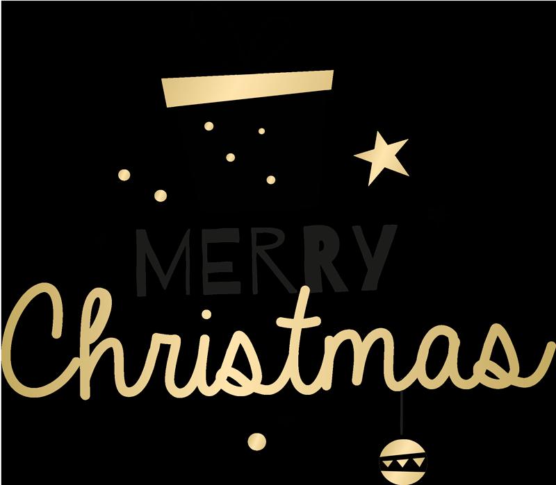 TenStickers. T-shirt Kerstmis Elegante geschenkdoos patroontekst. Elegant geschenkdoos t-shirt ontwerp. Op het merry christmas en cadeau t-shirt zie u het ontwerp van de kerstcadeaudoos en enkele decoratieve elementen.