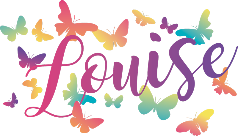 TenStickers. Gradient Butterflies with name t-shirt. Multicolored butterfly pattern t-shirt for women!  The design is customizable with any name of choice. It is original and easy to wash and iron.