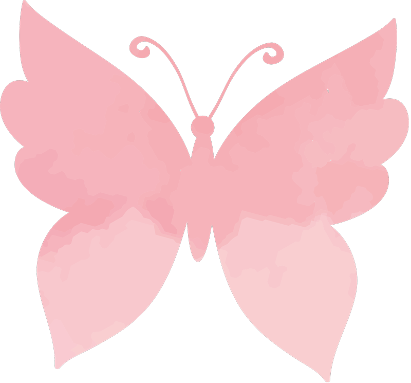 TenStickers. Pink butterflies ladies t-shirt. High quality ladies casual t-shirt that you can ever ask for. It is designed with a pretty butterfly prints and it is customizable in other colours.