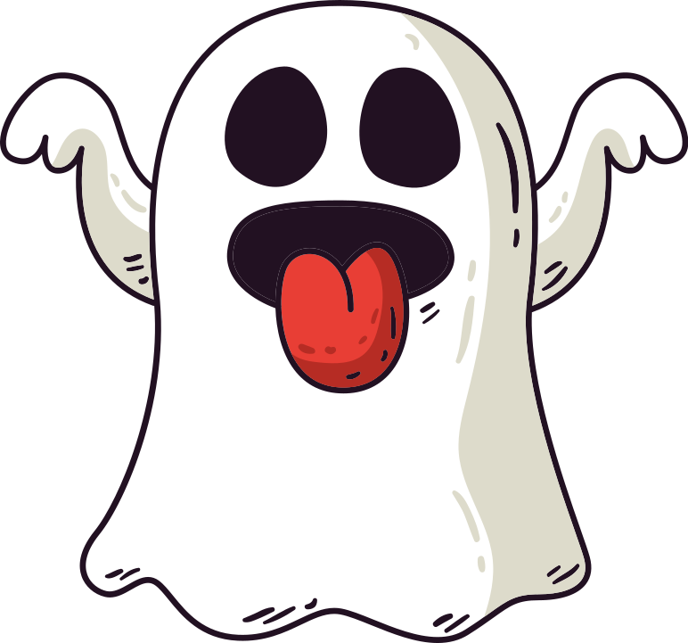TenStickers. halloween ghosts flying Halloween t-shirt. T-shirt with a small ghost. You will rock it with a pair of blue jeans and sneakers. Breathable and made of high quality material.
