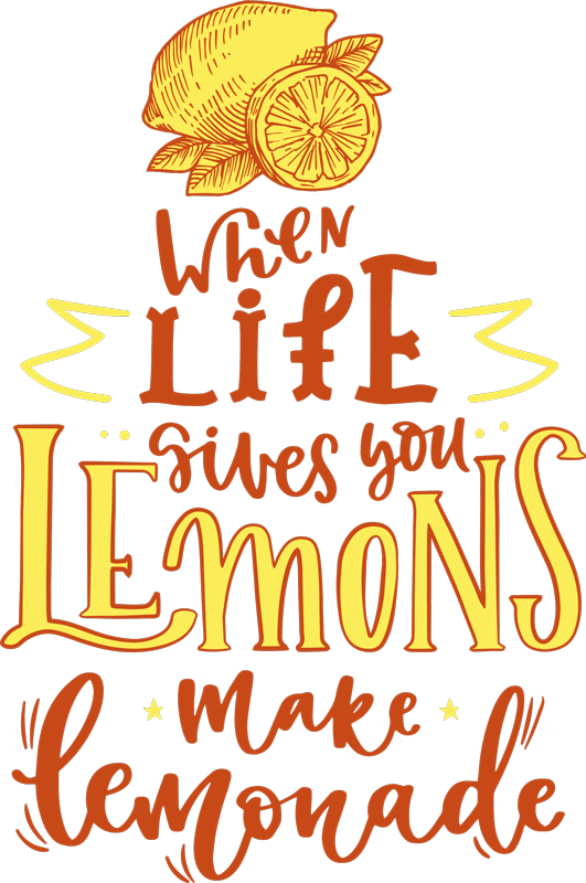 TenStickers. Lemon sketch quote shirt for women. Looking for some comfortable and original t-shirt to use on a pair of pants, jean, shorts or skirt. We got you covered with our lemon quote t-shirt.