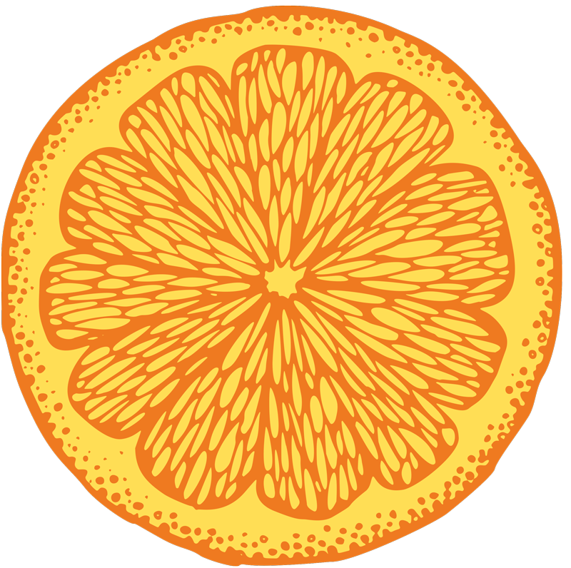 TenStickers. Orange hand draw circle cute shirt. Orange hand draw circle men's shirt - We also have this sliced orange shirt design for women. Easy to wash and iron, it is original.