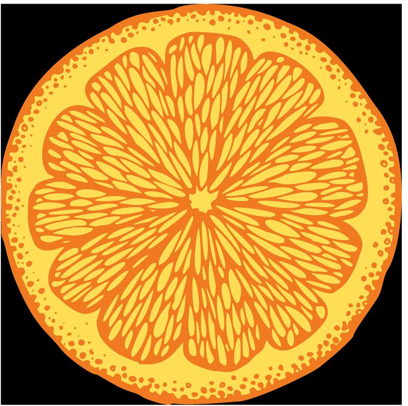 TenStickers. T-shirtlaranja desenho círculo bonito. T-shirtmasculina laranja desenho círculo - também temos este produtode T-shirtlaranja fatiado para mulheres. Fácil de lavar e passar, é original.