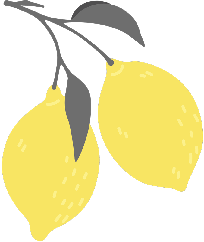 TenStickers. Majica s tropsko limono. Tropska limonina srajca iz naše kolekcije oblikovanja agrumov. Preprost, a lep dizajn majice za dame. Na voljo v različnih velikostih.