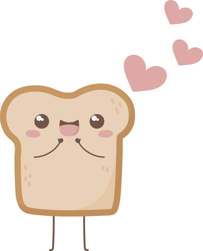 TenStickers. Bread and Nutella matching shirts for couples. Matching t-shirt set which features a cute image of a slice of bread and jar of Nutella with hearts next to them. Extremely long-lasting material.