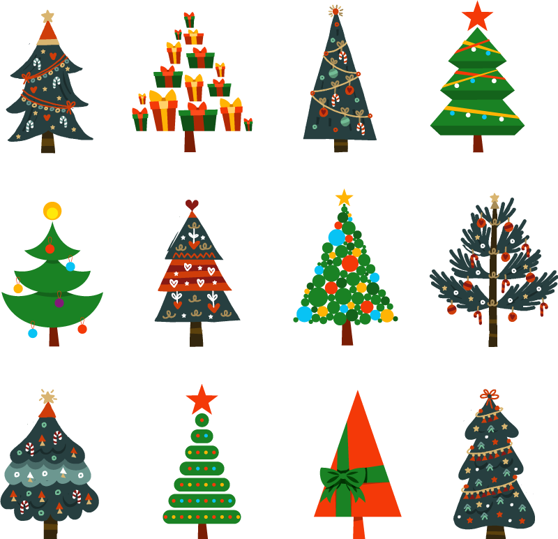 TenStickers. happy xmas with coloured xmas trees christmas tee shirts. All of your friends and family will love your brand new piece of decor with this awesome christmas t-shirt product! Order this now!