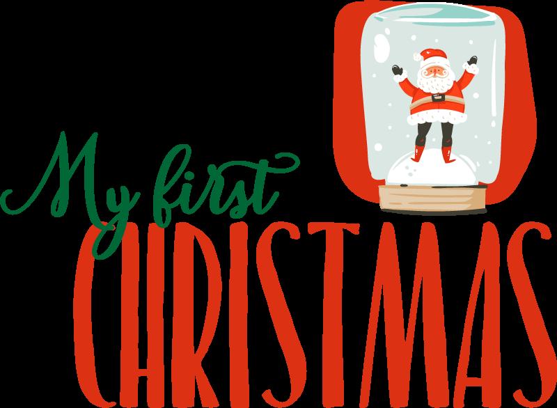 TenStickers. Minha primeira t-shirts infantis de natal t-shirt de Natal. Um produtode t-shirt infantil incrível que vai realmente dar a sua casa muito mais energia! Peça este produto agora! Compre agora de nós na tenstickers!