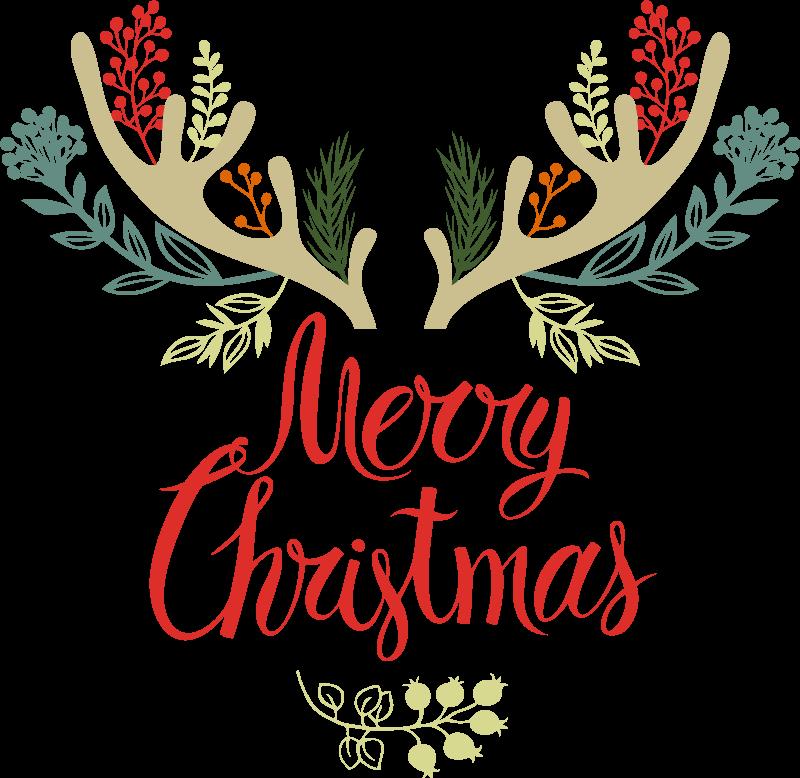 TenVinilo. Camiseta navideña cuernos florales. ¡Camiseta navideña de reno es la manera perfecta para llevar en las fechas navideñas! ¡Pídelo ahora! Diseño con cuernos de renos florales