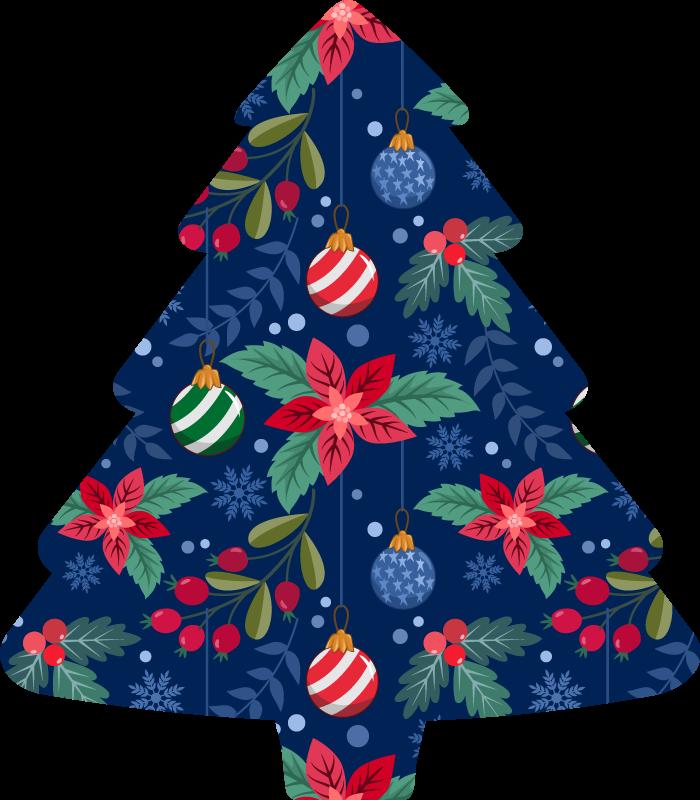TenVinilo. Camiseta navideña árbol color azul. ¡Camiseta navideña decorativa muy única y genial que realmente le dará a tu hogar más luz! ¡Pide este artículo ahora! ¡Envío exprés!