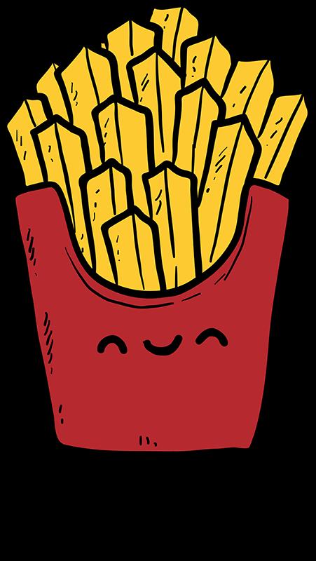 TenVinilo. Camisetas para parejas hamburguesa y patatas. Una divertida combinación en camisetas para parejas o novios Cuando vas a comer una hamburguesa, está siempre está acompañada de patatas ¿Verdad?