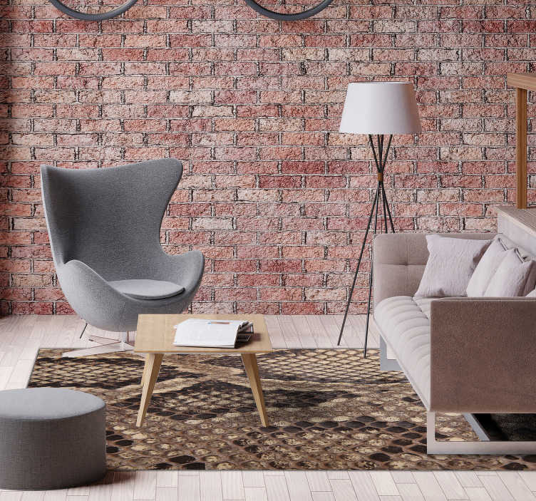 TenStickers. Snakeskin animal print vinyl carpet. Fantastic animal print vinyl carpet made of imitation snakeskin, perfect for decorating your home in a different and exclusive way!