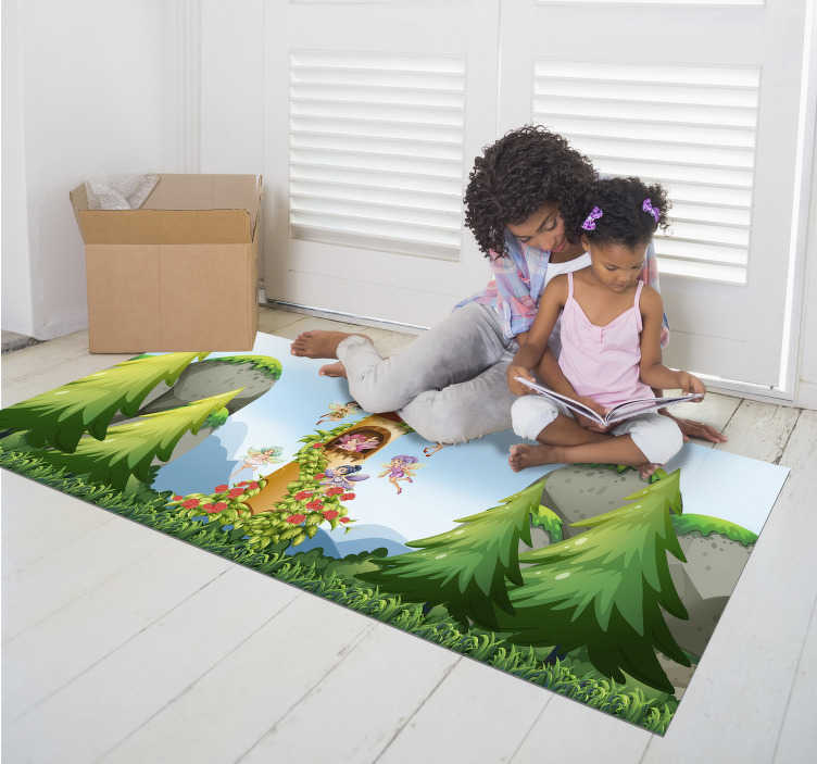 TenStickers. fairy tale  babies vinyl rug. Take a look at this wonderful fairy tale vinyl rug for babies and decide to donate to your children something really special!