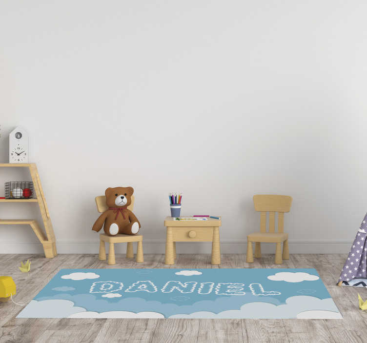 TenStickers. Customizable sky  babies vinyl carpet. Thanks to this customizable sky  babies vinyl rug the room of your kid will completely change! In addition, you can play together on the floor!