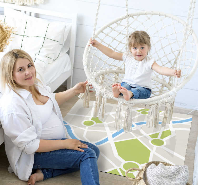 TenStickers. city roads  carpet rug. Use this amazing city roads vinyl rug and decorate your son's spaces in a really great way! Offer him an incredibly beautiful detail!