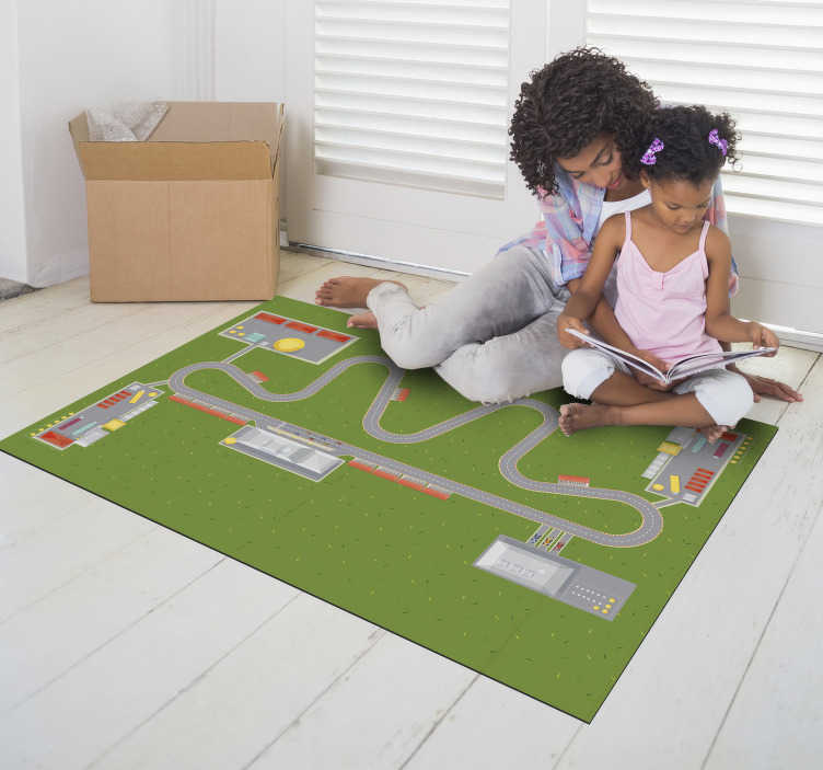 TenStickers. car city track vinyl rug. This fabulous car city track vinyl rug is the best choice for making a really great gift for your son! Bring home something unique!