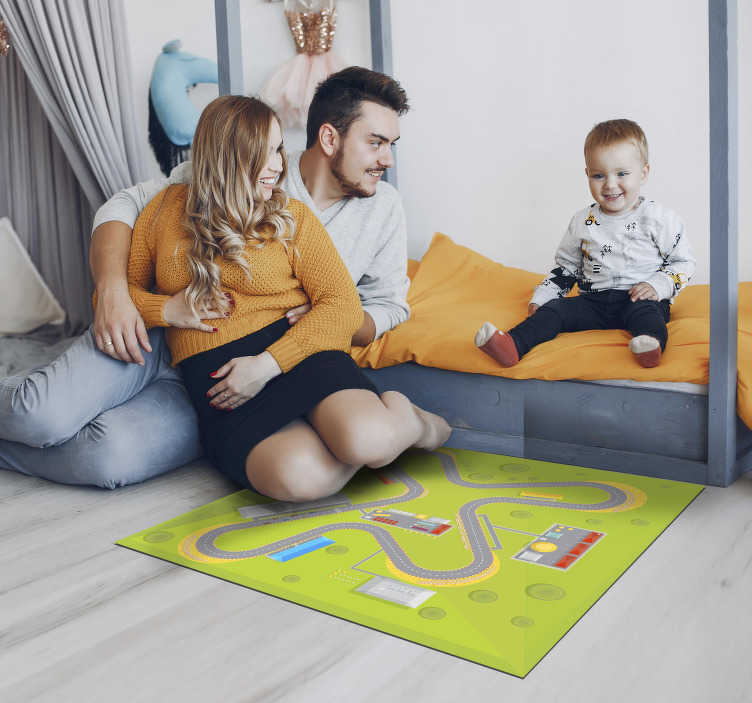 TenStickers. car track vinyl rug. Explore the many ways this amazing car track kids vinyl rug can make your son's bedroom much more beautiful! Trust the quality of our material!