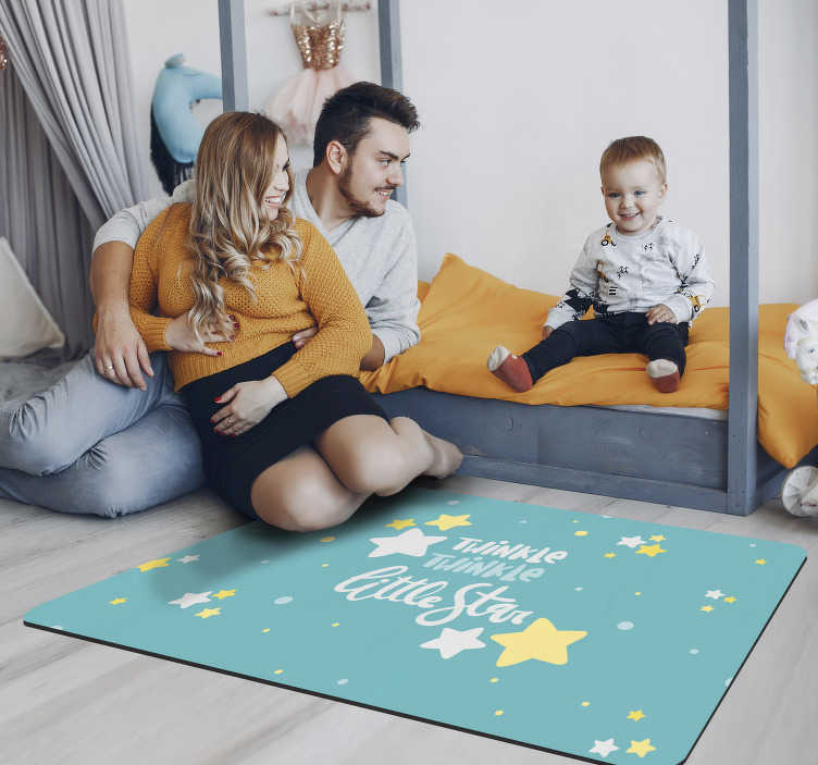 TenStickers. Star twinkles vinyl carpet. Employ this wonderful star twinkles vinyl rug and change radically the wa you were used to decorate your the spaces of your kids!
