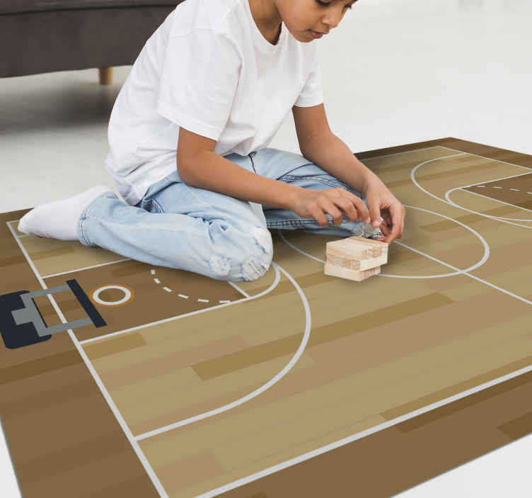 TenStickers. Vinyl rug for basketball teens. Basketball fan? Here we propose a vinyl carpet for young people to decorate your room or your child's room with an exclusive touch!