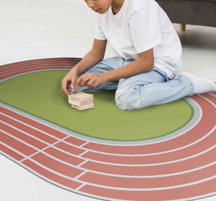 TenStickers. Vinyl rug for youth athletics teen. Original vinyl youth carpet to decorate a teenager or young person's room with an exclusive touch for a modest price! Sign up for 10% off.