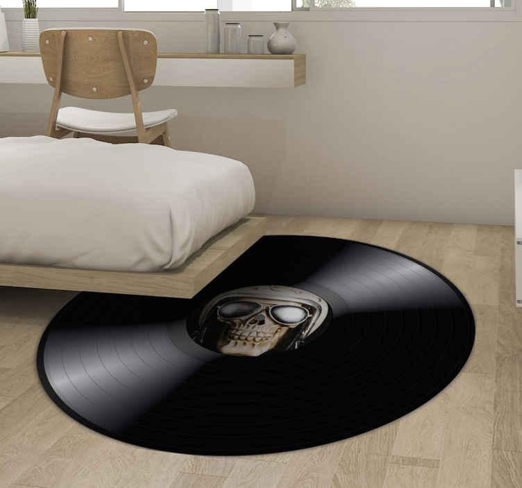 TenStickers. Tilpasses vinyl tæppe med foto vintage. Et fantastisk tilpasset vinyltæppe, som du kan dekorere dit hjem med din egen stil med et design, der vil være helt skræddersyet til dig!