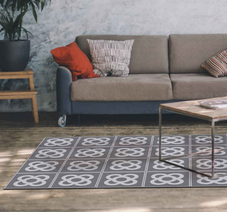 TenStickers. Carpet pvc panot barcelona mosaic. Everyone who likes Barcelona can now have a piece of it in their house Panot Barcelona vinyl living room carpet to decorate any room of the house!