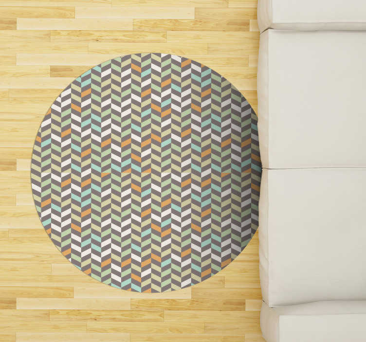 TenStickers. little diamonds  nordic vinyl rug. This little rhombuses scandinavian style vinyl rug is the perfect solution for whom wants to renew the house decor! Extremely long-lasting material!