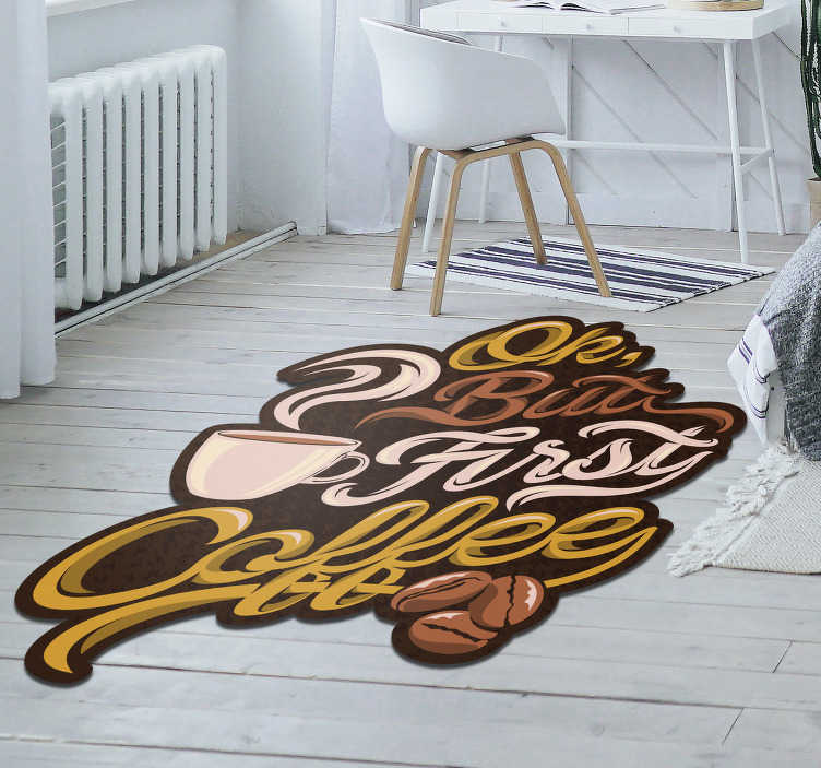 TenStickers. Retro design vintage vinyl rugs. Vintage vinyl carpet that you can put in your business if you are in the restaurant or hotel business or in your home! Very long-lasting material.