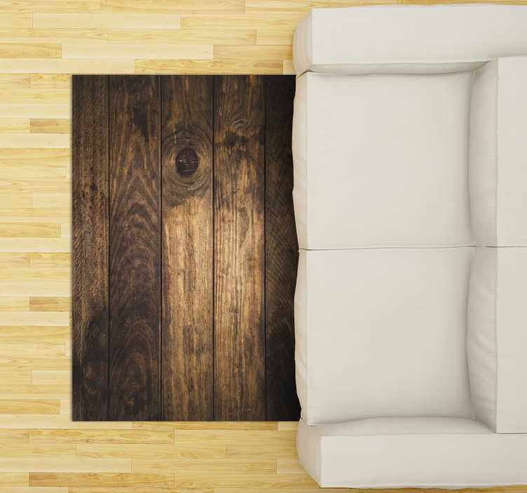 TenStickers. brown wooden planks vinyl rug. This stunning brown wooden planks vinyl carpet is the best solution for your house decor! Explore all the ways it can improve your house!