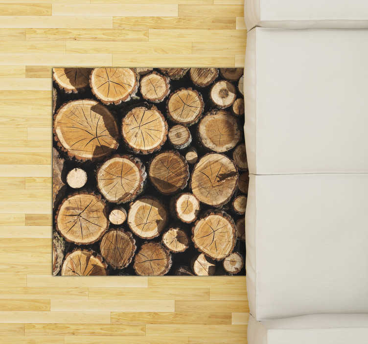 TenStickers. wood trunks vinyl rug. This amazing wood trunks vinyl carpet is what you need to radically change the impact of your house! Choose the best size for you!