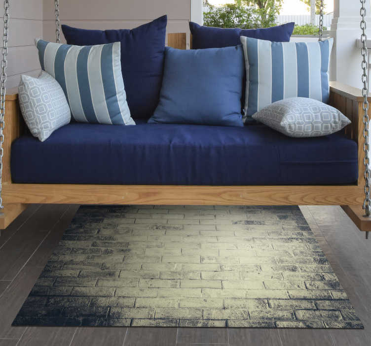TenStickers. vintage stone effect vinyl rug. With this stunning vintage stone vinyl rug you will be able to renew the aspect of your house really easily! Personalised sizes.