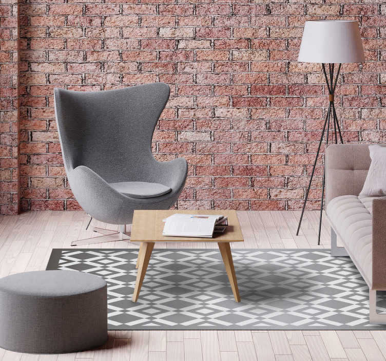 TenStickers. amazing tiles geometric vinyl carpet. This amazing tiles geometric vinyl rug can help you a lot in making great changes in the decoration of every room of your house!