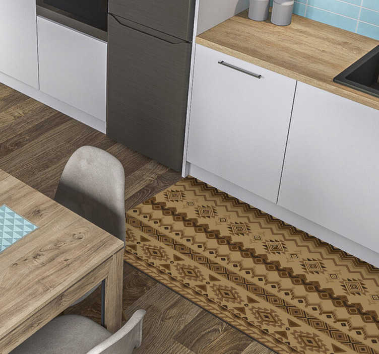 TenStickers. Ethnic kilim Design vinyl carpets. Vinyl rugs ethnic kilim design will create an oriental ambience in your home or in your office. Choose the sizes and it arrive to your home.