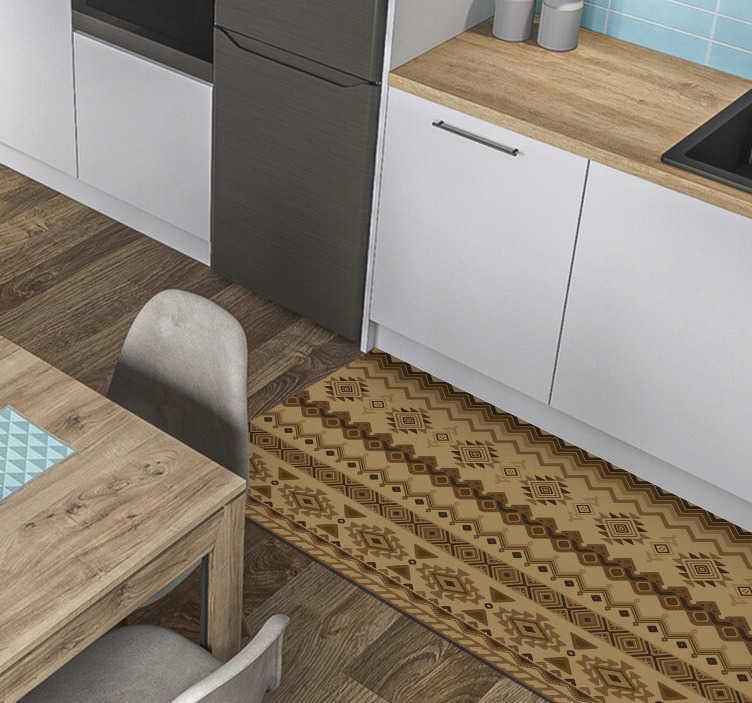 TENSTICKERS. エスニックキリムデザインビニールカーペット. ビニールの敷物エスニックキリムデザインは、あなたの家やあなたのオフィスでオリエンタルな雰囲気を作成します。サイズを選択すると、ご自宅に届きます。