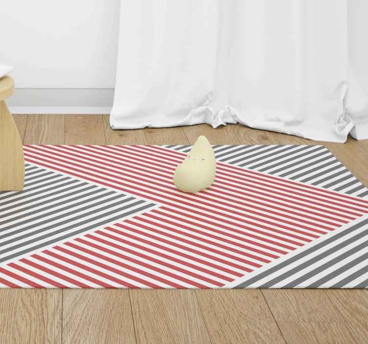 TenStickers. Modern mat with colored lines modern vinyl carpet. A pleasing and lovely looking modern mat carpet with colorful line patterns. It is easy to maintain, anti-slip and anti-allergic.