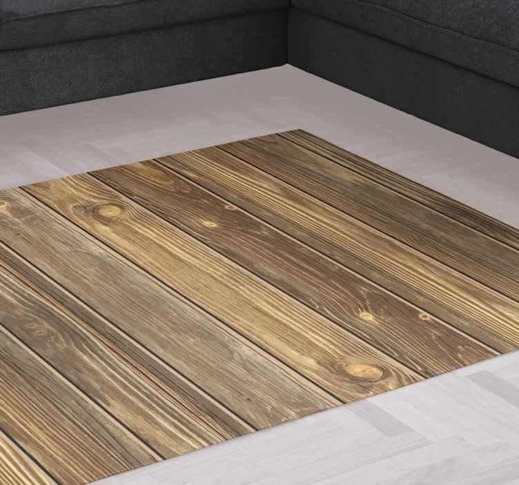TenStickers. Wood effect  wood vinyl rug. Amazing wood texture vinyl rug for your home. This design is nice on any space and it is easy to use and maintain. It is anti-slippery and immovable.