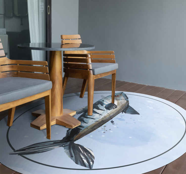 TenStickers. Abstract Sea Food animal vinyl carpet. Abstract Sea Food animal vinyl rug for your space.  It is easy to maintain, clean, brush and washable . Choose it in your size measure.