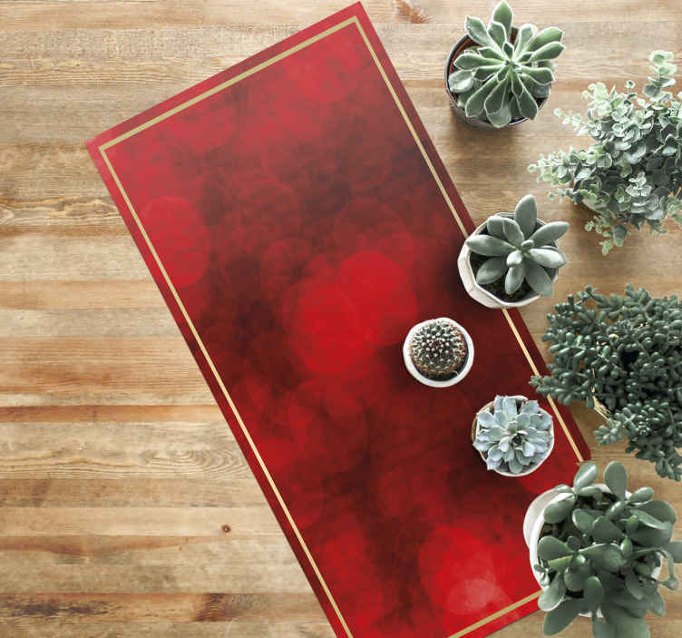 TenStickers. Merry Christmas in red living room rug. Lovely and amazing red theme background vinyl carpet for home and office space.It is made of high quality material, easy to clean, wash and anti slip.