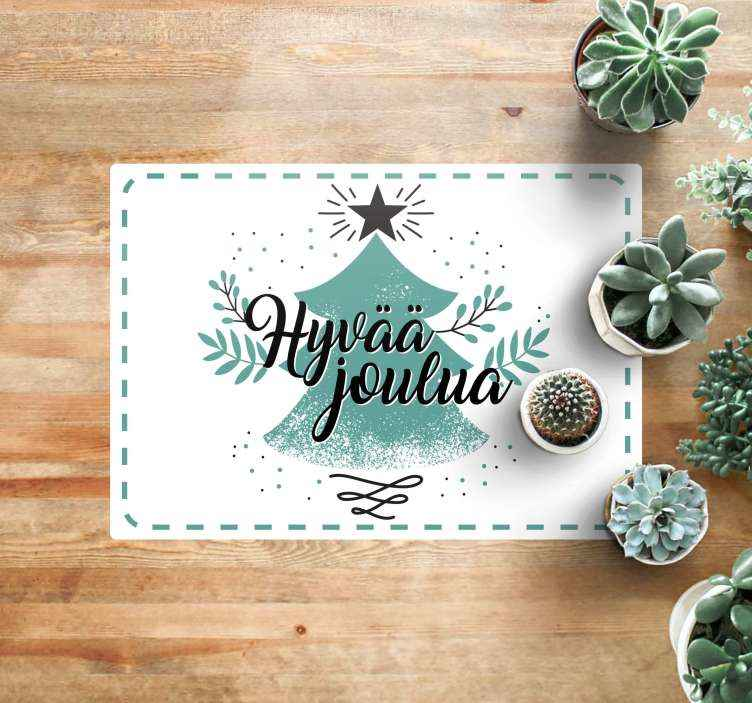 Tenstickers. Valkoinen piste hyvää joulua vinyylimatto joulu. Täydellinen joulukuusi-vinyyli matto tähän erityiseen aikaan vuodesta! Rekisteröidy verkkosivustollemme tänään saadaksesi 10% alennuksen ensimmäisestä tilauksestasi.