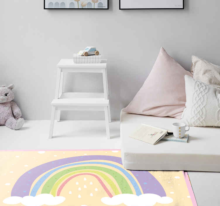 TenStickers. rainbow kids vinyl carpet. A new modern rainbow vinyl rug to make your children's rooms look incredible! Our anti-bubble vinyl will make any floor look amazing.