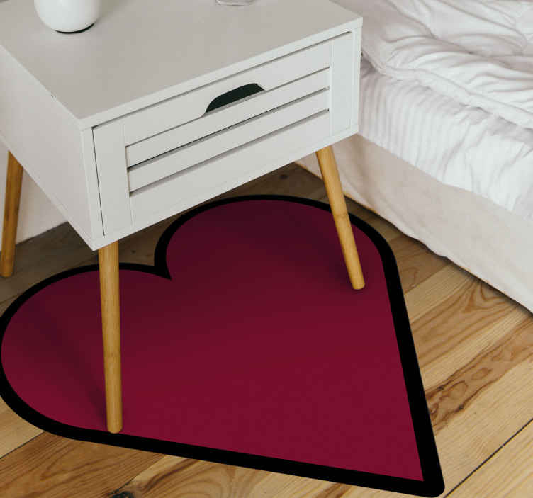 TenStickers. heart shape red rug. A red heart shape vinyl rug for all those heart lovers to add to your house decoration and give it a romantic look with this product.