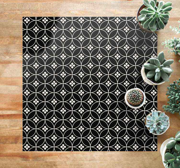 TenStickers. Flower tiles flower rug. An amazing flower tiles floral carpet for your home.  It can be cleaned, brushed and washed. Add it to your cart now to purchase it online!